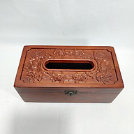 Hộp giấy ăn gỗ hương hoa hồng leo loại to đẹp thumbnail