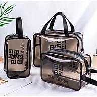 Túi đựng Mỹ phẩm Tiện ích Nhựa dẻo combo 3 món C12 thumbnail