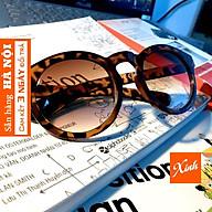 Kính mát kính râm nữ chống nắng chống bụi thời trang gọng tròn da báo da beo cam xinh xắn K1007 thumbnail