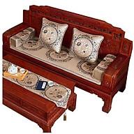 Thảm ghế, nệm ghế gỗ kích thước 2m x 60cm các màu nâu thumbnail