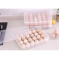 Hộp đựng trứng 24 quả trong suốt có nắp đậy tiện dụng để trong tủ lạnh thumbnail