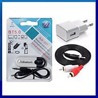 Bộ USB Bluetooth DONGLE - dây 3.5ly bông sen - cóc sạc - chuyên dùng cho amply, loa, dàn karaoke gia đình thumbnail