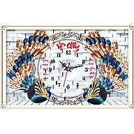 Tranh thêu chữ thập 3D Đồng hồ Vợ Chồng 67x43cm_ tự thêu thumbnail