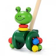 Đồ chơi gỗ thanh đẩy chú ếch con cho bé tập đi thumbnail