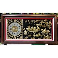 Đồng hồ - tranh đồng vàng liền tấm -Mã đáo thành công-A90 thumbnail