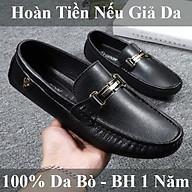 Giày Lười Da Bò Nam Cao Cấp 100% Da Bò Nguyên Miếng, Đế Đúc Cao Su Chống Trơn Trượt, BH 1 Năm, Hoàn Tiền Nếu Giả Da thumbnail