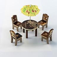 Bộ bàn ghế mini đồ chơi cho búp bê thumbnail