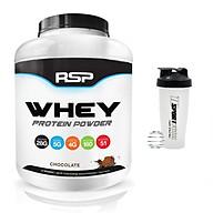 Combo Sữa tăng cơ giảm mỡ Whey Protein Powder của RSP hương Chocolate hộp 51 lần dùng hỗ trợ tăng cơ, phục hồi và phát triển cơ bắp & Bình lắc 600ml (Mẫu ngẫu nhiên) thumbnail