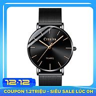 Đồng Hồ Nam Crnaira CR8333 Siêu Mỏng mặt đồng hồ tròn, thiết kế đẹp mắt, sáng bóng với tính năng hiện đại cho phái mạnh tự tin, mạng mẽ và thời trang thiết kế ôm tay vơ i Dây Thép Mành thumbnail