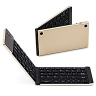 Wireless BT Keyboard Foldable Wireless Keyboard Portable Ultra Slim BT Keyboard for Windows Android iOS Gold thumbnail
