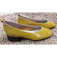 Giày Búp Bê Mũi Vuông Da Bóng - Cao 3p thumbnail