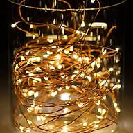 Đèn LED dây kẽm trang trí màu vàng dùng pin thumbnail