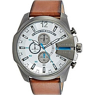 Diesel Men s Mega Chief Brown Leather Watch DZ4280 thumbnail