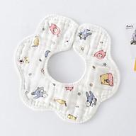 Yếm tròn 8 lớp vải xô, dùng được 2 mặt, vải sợi tre cao cấp cho bé thumbnail