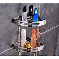 Kệ góc 2 tầng inox 304 - kệ tam giác nhà tắm OW025 thumbnail