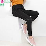 Quần jogger nữ Hiền Trần BOUTIQUE dáng dài cạp chun dây buộc, sọc kim tuyến 2 bên thumbnail