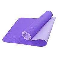 Thảm Tập Yoga Eco Friendly TPE 6mm 2 Lơ p Tặng Kèm Túi Đựng Thảm thumbnail