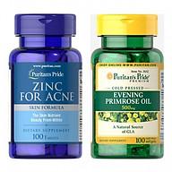 Thực phẩm chức năng - Combo làm đẹp, sạch mụn cho da Zinc for Ance và tinh dầu hoa anh thảo 500mg thumbnail