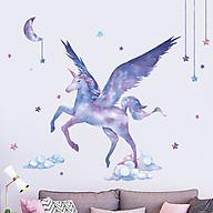 Decal trang trí chất liệu PVC loại 1 dày dặn, sắc nét, trang trí phòng cho bé, lớp mần non- Ngựa thần- mã sp QR9505 thumbnail