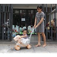 Ngựa bập bênh cho bé, có bánh xe và cần đẩy Toyshouse tặng xe trượt đà cho bé VBC-123-6 (ngẫu nhiên) thumbnail