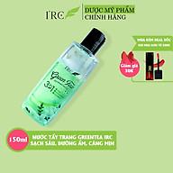 Nước tẩy trang IRC Green Tea Oil-Infused Micellar trà xanh an toàn cho da dầu mụn nhạy cảm với thành phần dược làm sạch sâu bên trong lỗ chân lông thumbnail