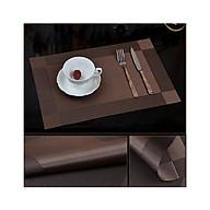 Bộ 4 khăn lót bàn ăn tấm 30x45cm NX109 màu nâu thumbnail