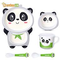 Bộ khay ăn cho bé Bamboo Life BL040 hàng chính hãng từ sợi tre thiên nhiên Dụng cụ ăn dặm cho bé Bộ chén bát ăn dặm cho bé Đồ dùng ăn dặm cho bé thumbnail