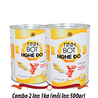 2 lon Tinh bột nghệ Đỏ An Bình (mỗi lon 500gr) - Khỏe bên trong, Đẹp bên ngoài thumbnail