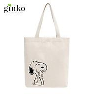 Túi Tote Vải Mộc GINKO Dây Kéo In Hình Snoopy M20 thumbnail