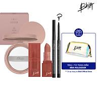 Bộ trang điểm Basic Make up Last Cushion + Powder Lipstick + Last Auto Gel Eyeliner Slim màu S1 Noir S - 549K gift 1 Pouch thumbnail