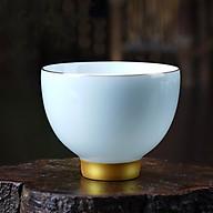 Chén uống trà men ngọc màu xanh ngọc thumbnail