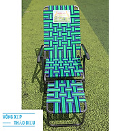 Ghế xếp dây bẹ gấp gọn khung sơn tĩnh điện thumbnail
