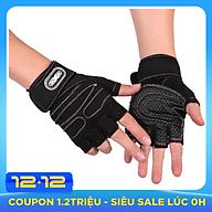 Găng tay tập gym có dây cuốn bảo vệ cổ tay kết hợp thumbnail