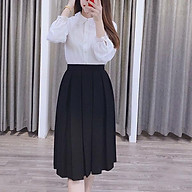 Chân váy xếp ly to dáng dài M1 thumbnail