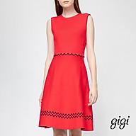 GIGI - Đầm mini dệt kim cổ tròn không tay Scalloped Waist G2106K202708-51 thumbnail