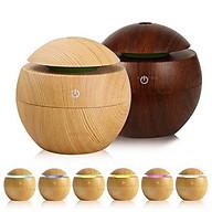 Máy khuếch tán tinh dầu - Máy tạo độ ẩm bình vân gỗ led 7 màu thumbnail