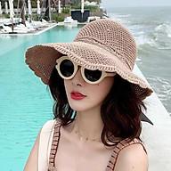 Mũ (nón) cói nửa đầu thắt nơ phong cách hàn quốc chống nắng, hottrend thumbnail