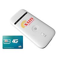 Bộ Phát Wifi Di Động 3G ZTE MF65 Và Sim 3G 4G Viettel V90 - Hàng Nhập Khẩu thumbnail