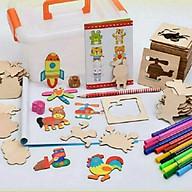 Bộ khuôn tập vẽ và tô màu cho bê thumbnail