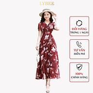 Đầm trung niên sang trọng LYBEE Váy dự tiệc Von tơ dáng xòe mã 589 thumbnail