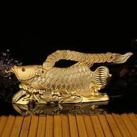 Tượng phong thủy hình cá rồng trang trí taplo ô tô, phòng khách, phòng làm việc, bàn làm việc thumbnail