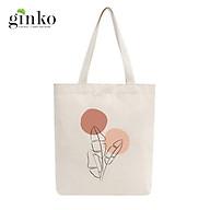 Túi Tote Vải Mộc GINKO Dây Kéo In Hình Minimalism Art M13 thumbnail