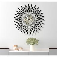 Đồng hồ treo tường hiện đại hình giọt nước hàng Việt Nam chất lượng cao trang trí phòng khách kích thước 75x75cm thumbnail