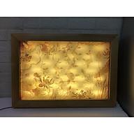 Tấm chống ám khói khung gỗ sồi, mẫu tranh điện hiện đại, tặng kèm tấm minia Ám khói (có thể làm tấm trang trí ốp lưng phía sau bàn thờ Phật, bàn thờ đứng, bàn thờ treo, góc trang trí) - BH47 thumbnail