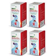 Combo 4 hộp Thực phẩm bảo vệ sức khỏe BRAIN giúp ngủ ngon giấc, hết mất ngủ, chóng mặt, ù tai thumbnail