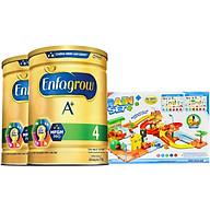 Combo 2 Lon Sữa Bột Enfagrow A+ 4 1.7kg Tặng Đồ Chơi Mô Hình Đoàn Tàu thumbnail