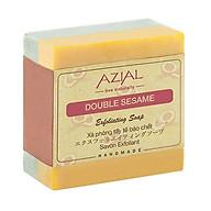 Xà phòng tắm thiên nhiên AZIAL Double Sesame Exfoliating Soap, xà bông cục handmade tẩy tế bào chết, dưỡng ẩm, giúp da sáng mịn, hương thơm Bạc Hà sảng khoái thumbnail