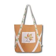 Túi tote vải canvas phom ngang phối hoa lá thời trang COVI nhiều màu sắc T7 thumbnail