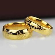 Nhẫn cặp titanium phim Chúa tể những chiếc nhẫn BHN76-1 thumbnail