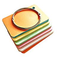 100 thẻ flashcard 5 màu 5x8cm(bo góc) bìa thái cao cấp tặng khoen inox + bìa cứng dày học ngoại ngữ thumbnail